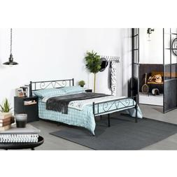 Twin/Full Size Bed Frame Metal Platform Bed Foundation with