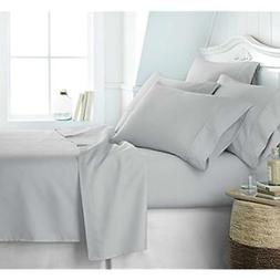 "Ultra Soft 6 Piece Bed Sheet Set, Queen, Light Gray Home "" K"