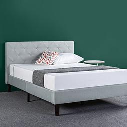 Zinus Shalini Upholstered Diamond Stitched Platform Bed in S