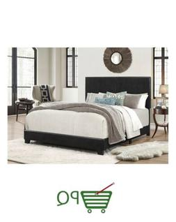 Crown Mark Upholstered Panel Bed in Black, King King, Black