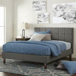 upholstered platform bed 43 tall and tufted