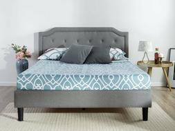 Zinus Upholstered Scalloped Button Tufted Platform Bed with