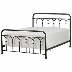 "Stone & Beam Vintage Ari Arced Steel Queen Bed, 65.5""W, Aged"