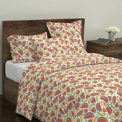 Watermelon + Banana Fruit Kitchen Home Upholstery Sateen Duv