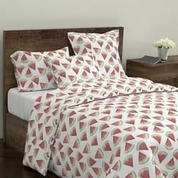 Watermelon Summer Fruit Kitchen Home Decor Sateen Duvet Cove