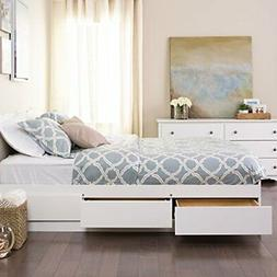 Mate's Platform Storage Bed with 6 Drawers, Queen, White