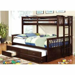 Furniture of America Williams Twin XL Over Queen Bunk Bed