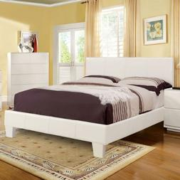 winn contemporary white leatherette queen