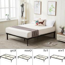 wood slats metal platform bed