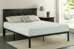 Zinus Cherie Faux Leather Classic Platform Bed Frame With St